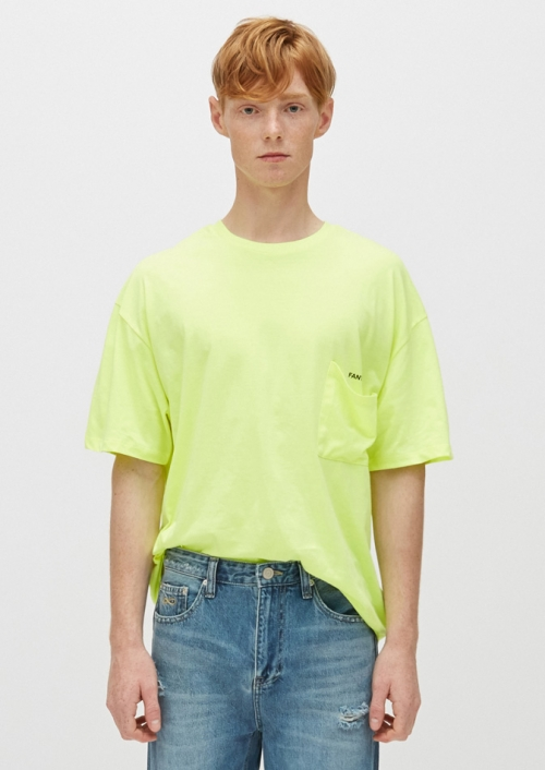 MENS OVERSIZED POCKET T-SHIRTS_LIME (PWON2RSL49M0Y1)